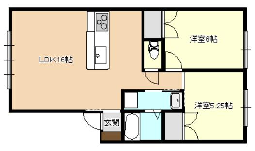 グランコートNⅪ B号室