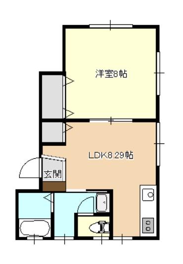パレットⅡ B号室
